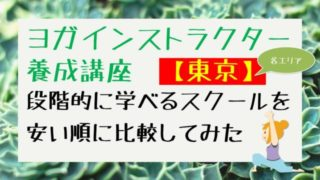 320x180 - ヨガ資格【東京】安い順!短期5日~段階的に学べるスクール比較